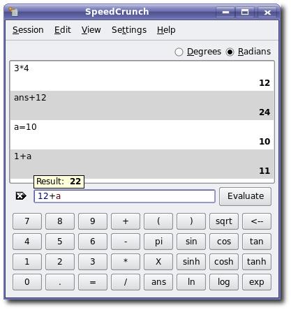 SpeedCrunch calculadora