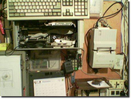 Computadores presos nas paredes
