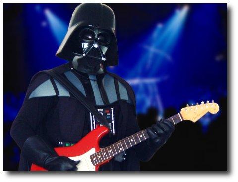 Darth Vader tocando guitarra