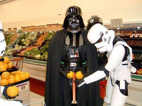 Darth Vader no Supermercado