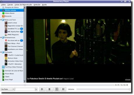 Democracy TV Player rodando Le fabuleux destin d'Amélie Poulain
