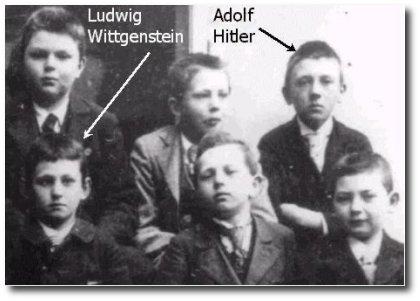 Hittler e Wittgenstein na mesma foto