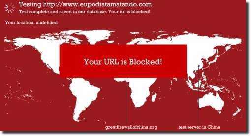 Fomos bloqueados na china great firewall of china