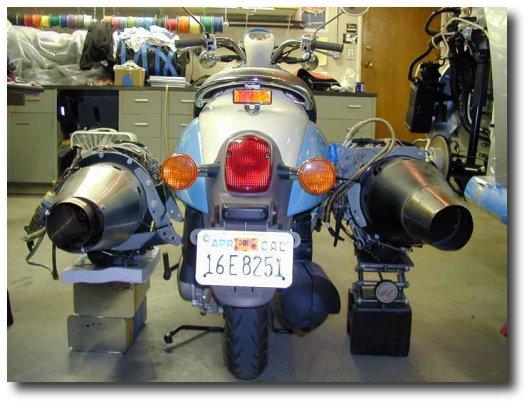 Scooter a jato jet scooter vespa a jato vespa movida a jato