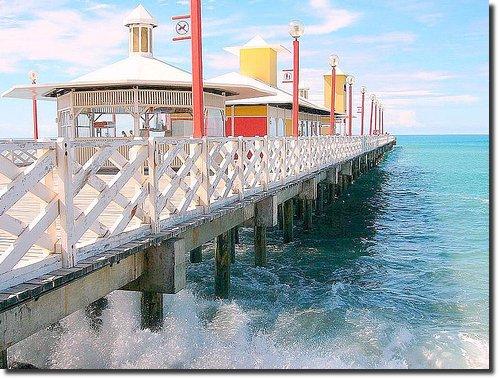 Ponte Metálica de Fortaleza, Ceará, Brasil, Brazil, Brèsil. mar ponte