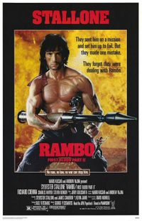 Poster de Rambo 2 (First Blood, parte 2).
