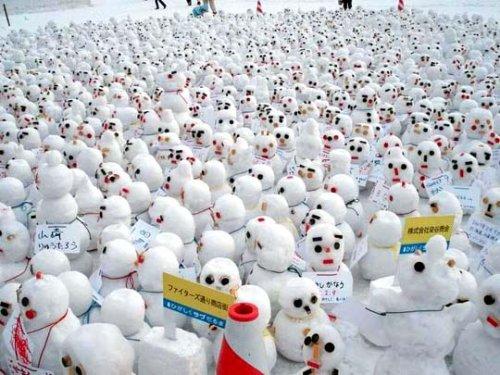 Bonecos de neve snowmen activists