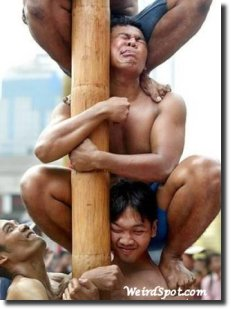 Pilha humana human stack man stack mens in a stack human tower