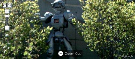 Robô assassino nos arbustos!