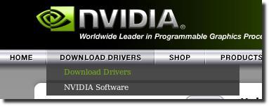 Vá no site da Nvidia e procure por drivers