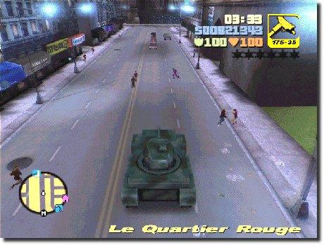 Tanque correndo nas ruas do GTA