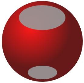 Inkscape bola com duas elípses