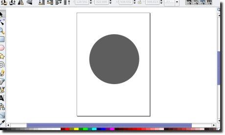 Inkscape primeiro círculo