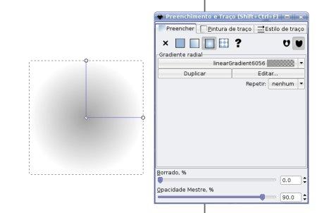 Inkscape circulo com gradiente radial