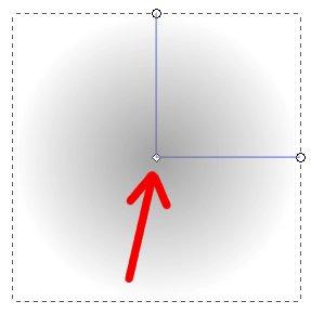 Inkscape circulo com gradiente radial cinza