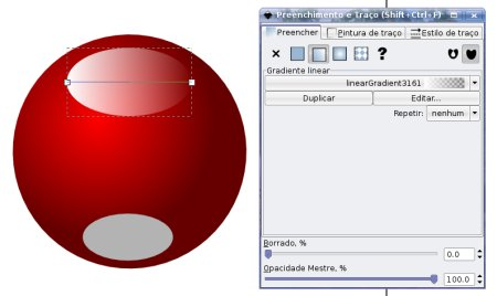 Inkscape elipse gradiente linear degrade