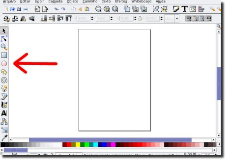 Inkscape ferramenta círculo