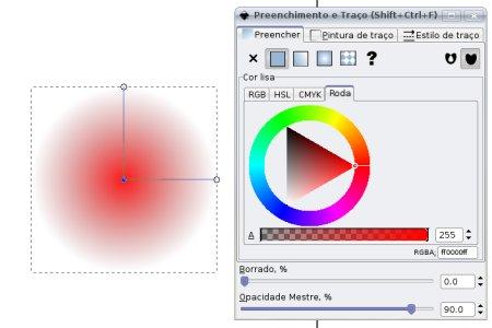 Inkscape gradiente vermelho
