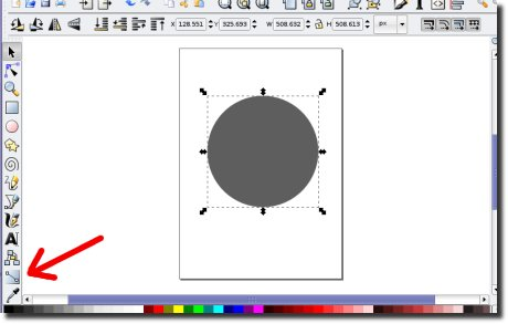 Inkscape gradiente ferramenta