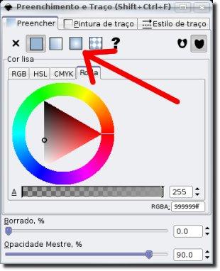 Inkscape gradiente radial