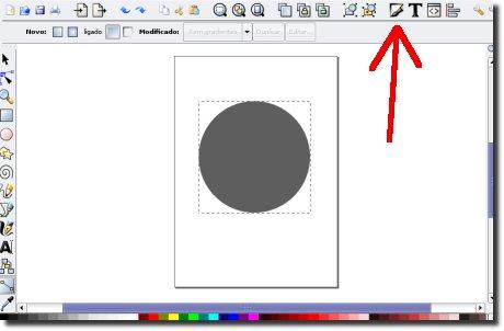 Inkscape preenchimento e traço