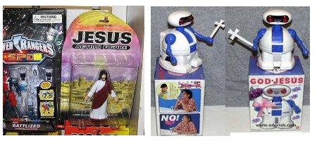 Jesus toy action figure boneco de jesus robôt jesus bot robot