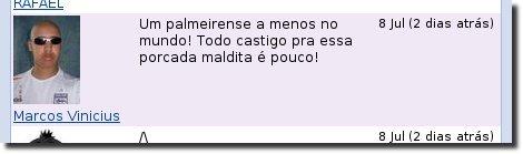 Marcos Vinicius e o infame comentário