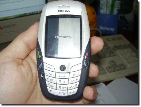 Nokia 6600 formatando formating nokia 6600