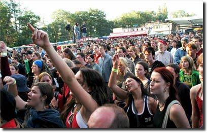 Pessoas festival rock multidão multitude