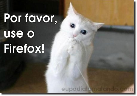 Por favor use o Firefox!