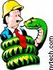 Python agarra homem