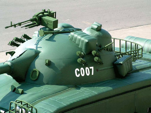 Tanque de guerra inflável