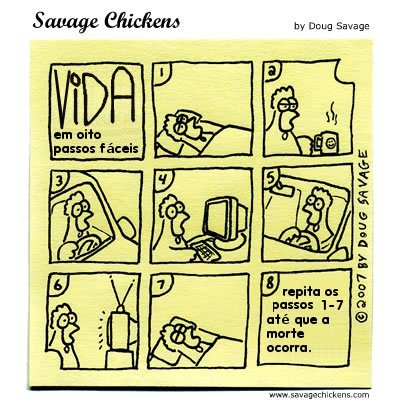 Chicken waste a vida em oito passos fáceis life in eight easy steps