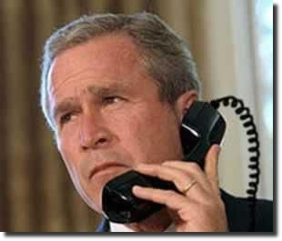 bush telephone wrong