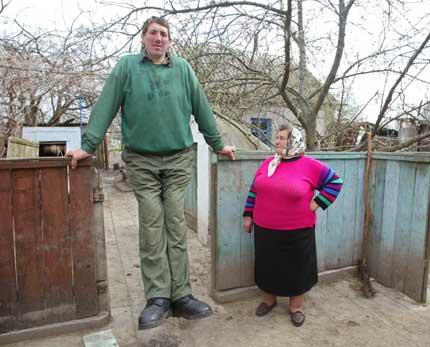Leonid Stadnyk e sua mãe