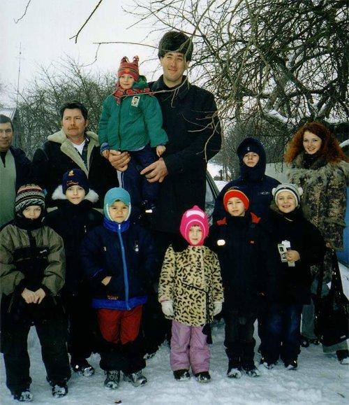 Leonid Stadnyk foto em família