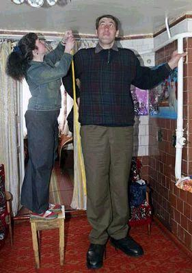 Leonid Stadnyk sendo medido