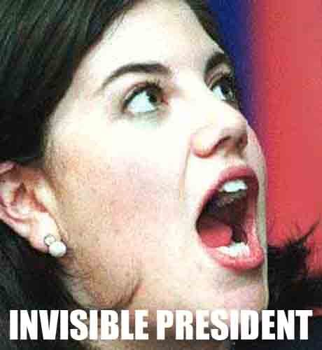 Invisible President! Monica Bill