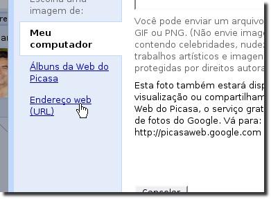 Orkut endereço web url