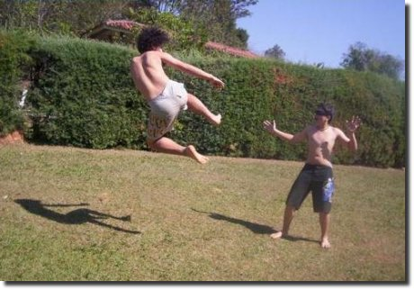 Voadora no jardim