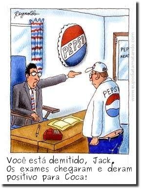 Você está demitido Jack. Os exames chegaram e deram positivo para Coca.