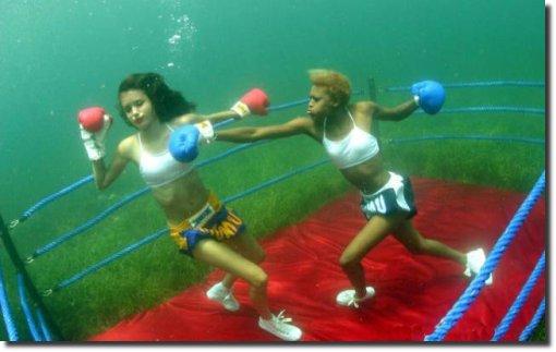 Boxe mulheres aquático
