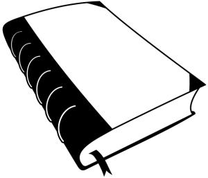 Um livro velho, cortesia do projeto openclipart