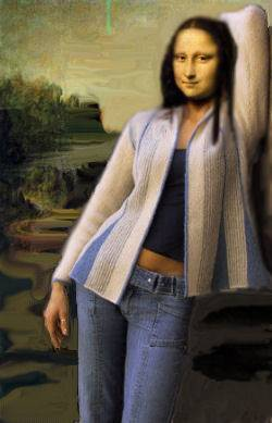 Monalisa com um look casual