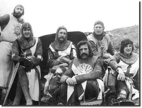 Grupo Monty Python em foto poster do filme Cálice Sagrado