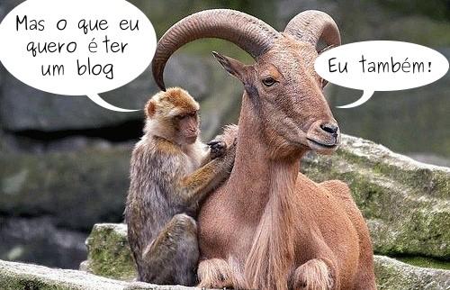 O que eu quero é ter um blog