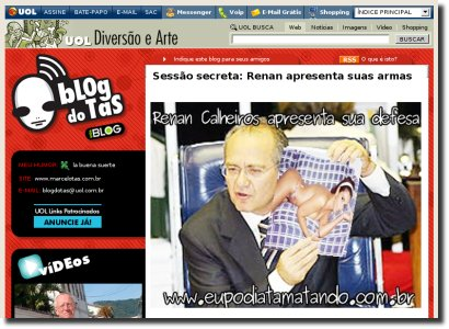 Blog do Tas faz referencia ao eupodiatamatando.com