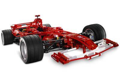 Ferrari feita de Lego