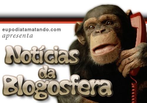 Notícias da Blogosfera. Um macaco segurando um telefone vermelho