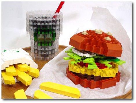 sanduiche feito de lego